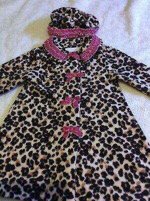 Bonnie Baby Leopard Jacket Coat and Hat 24 Months 2 years