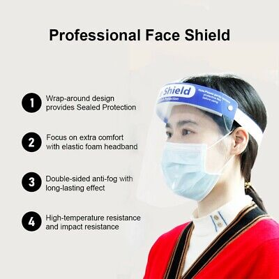 Plastic Face Shield in USA Now $2.50-$6 ea. 1/ 50/ 200/1000/5000