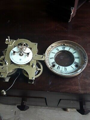 Ansonia Open Escapement Movement And Dial Parts Only As Shown