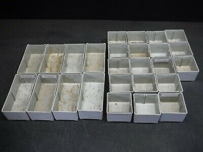 Used Lot of 26 Stanley Vidmar BN-25-44/BN-25-48 Plastic Drawer Bins 9F