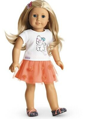 American Girl Truly Me~COCONUT CUTIE Outfit~Set~Skirt~Tee~Spring~Joss~Blaire