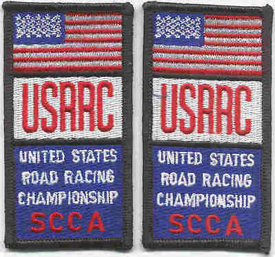 Race patch set of two identical USRRC patches. Nice
