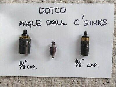 """New Dotco Angle Drill Mini C'sink Cages  5/8"""" & 3/8"""" Cap.   Free Shipping!!!"""