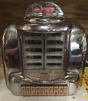 1948 Seeburg 100 Wall-O-Matic Jukebox 3W1 Wallbox