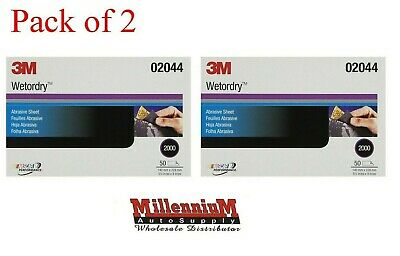 3M 02044 Wetordry Sheet, 2000 grit, 5 1/2 x 9 inch 100 sheets ( 2 Pack)