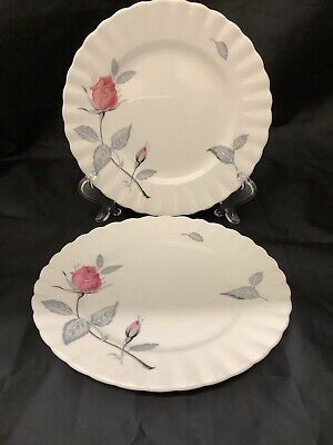 "Two Vintage Royal Albert ""Trent Rose"" English Bone China Side Tea  Plates"