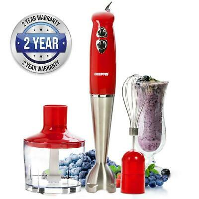 3-In-1 2 Speed Hand Blender Multi Functional Blades Ideal Mixer For Smoothies
