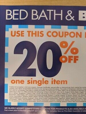 Bed Bath Beyond 20% off one single item Exp 7/13/20 Message Delivery