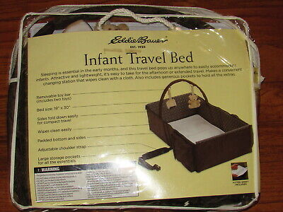 Eddie Bauer Infant Portable Travel Bed Bassinet Changing Station