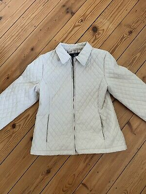 Burberry Kids Girls Cream Quilted Jacket Coat Age 10 Years