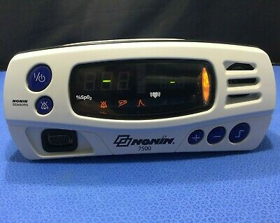 Nonin 7500 Portable Pulse Oximeter - NO POWER SUPPLY - working battery      kp