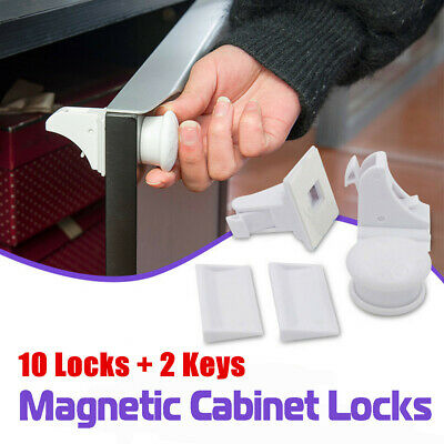 24pcs Magnetic Cabinet Drawer Cupboard Locks for Baby Kids Safety Child Proof
