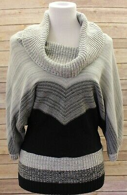 EAST 5TH WOMEN'S Plus 2x Grey Gradient Soft Knit Cowl Neck