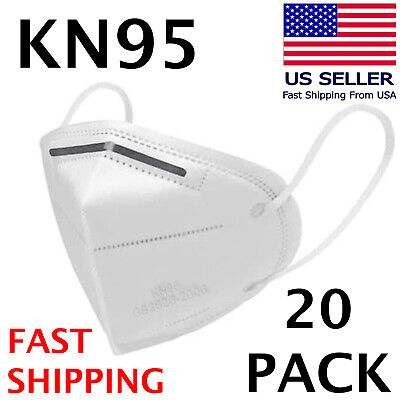 20 PACK KN95 Face Mask KN 95 Disposable Medical Surgical Mouth Cover Respirator