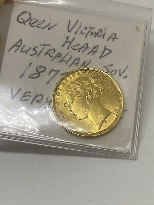 1872-S Australia 🇦🇺 St George Young Head Victoria Gold Sovereign Coin - RARE