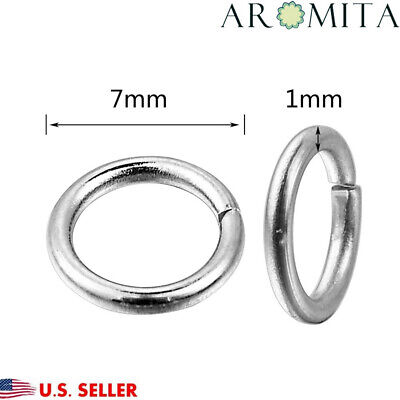 500PCs Stainless Steel Open Jump Rings Jewelry Findings Making 7mm Dia 18 GA