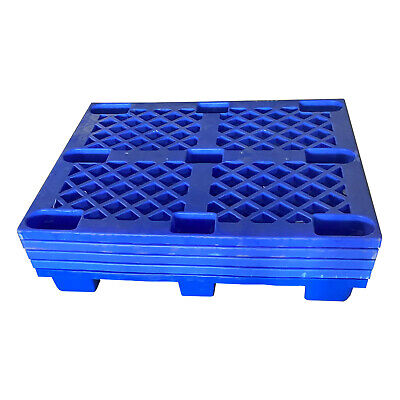 "40""x48"" Plastic Nestable Pallet, 40""x48""x5.5"" (actual 1000x1200x140 mm), 5-pack"