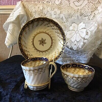 Antique Porcelain Trio. Cup, Saucer & Bowl