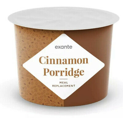 Exante 16 Cinnamon Porridge Pots & 1 Porridge  Oats x17 meal replacements 🥣 😋