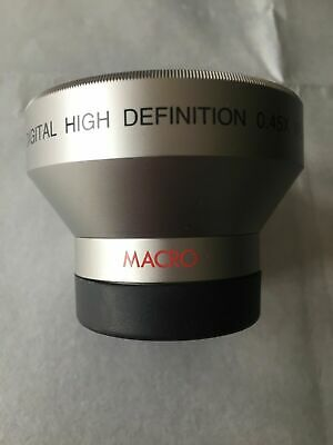 Digital High Definition 0.45X Wide Angle Lens With Macro + Bower V-37 UV Ring