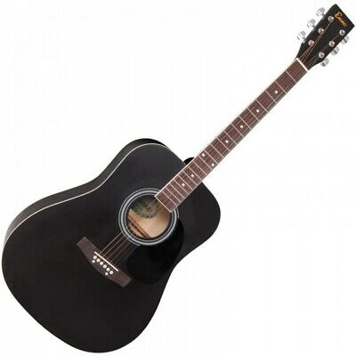 Encore Dreadnought Acoustic Guitar - Black