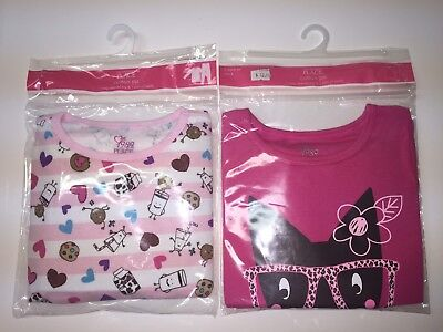 Childrens Place Lot Of 2 Pairs Girls Pajamas Size 4 New Long Sleeve Pants Cotton