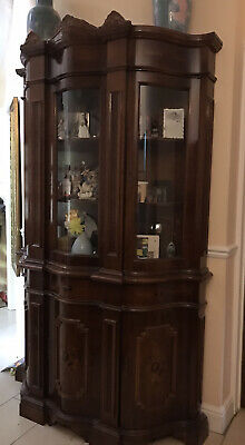 Italian Bow Fronted Display Cabinet