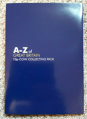 *A-Z Great Britain 2018 or 2019 ALPHABET 10p Coin A to Z Folder ALBUM Pack NEW