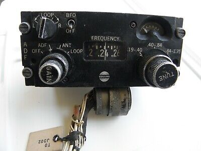Collins 522-2357-000 Aircraft radio control head direction finding