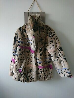 Next girl faux fur furry coat jacket 6 years excellent condition stunning