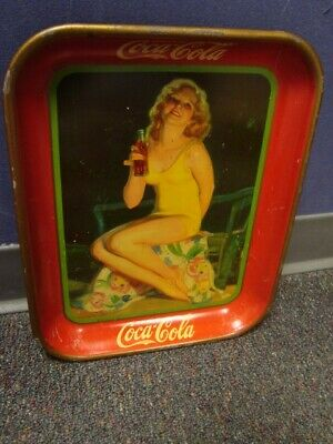 1932 Lady In Bathing Suit Coca-Cola Serving Tray