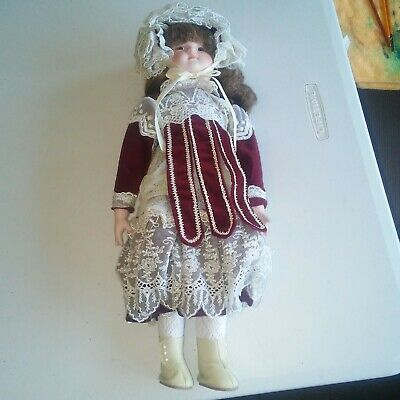 Rare Vintage CHSN La Collection Artisan Bisque Porcelain Girl Doll Lisbeth 16""