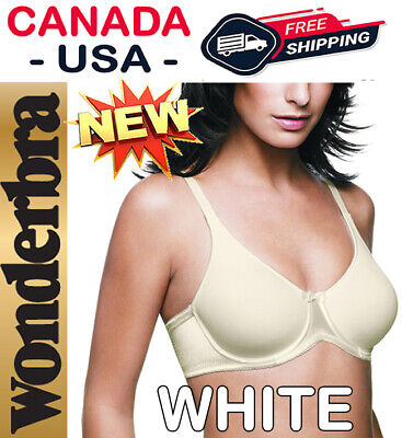 36D 36 80 D Wonderbra 7409 White Underwire Full Support Bra