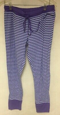 Xhilaration Sleepwear Women's Purple Stripe PJ'S Pants With Drawstring Size XL
