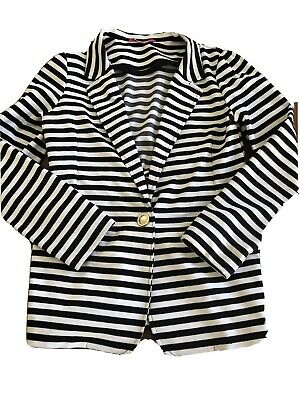 Girls YD Jacket, navy and white, size 12 - 13 years