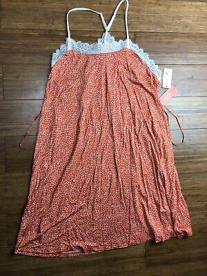 Sz XL Orange Gilligan & O'Malley Nightgown Sleepwear Total Comfort New