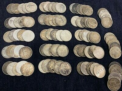 524.7 grams 50% silver  90 coin lot  1967 25C Canada Quarters  3 + = FREE S/H 4A