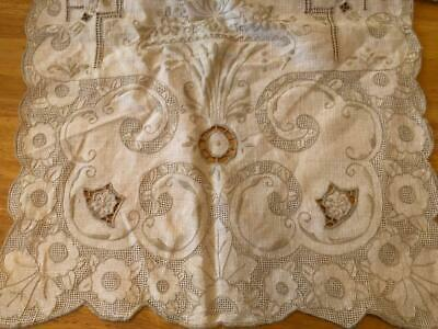 Vintage Antique~MADEIRA~ 8 PLACEMATS~Drawn Thread Open Cutwork Embroidery Runner