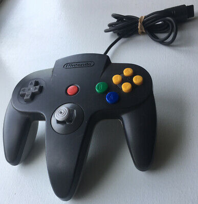 Nintendo 64 N64 Controller - Black/Grey - AUTHENTIC | OFFICIAL | TESTED!