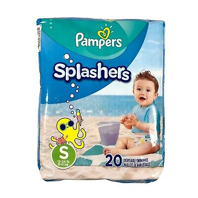 Pampers Splashers Baby Disposable Swim Pants Small 13-24 lbs 20 Pack