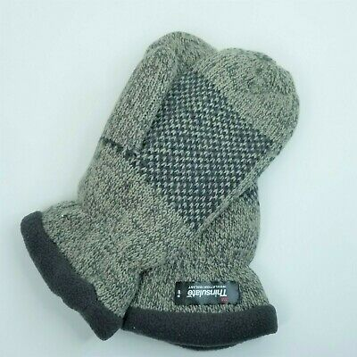 Bruceriver Women Snowflake Knit Mittens  Warm Thinsulate Fleece Lining Size L