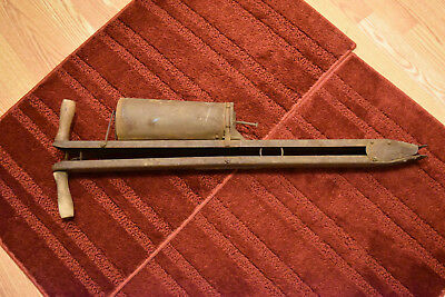 Vintage - Antique Metal - Wooden Hand Corn/bean Seed Planter Farm Primitive Tool