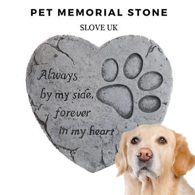 Pet Memorial Plaque Garden Stepping Stone - Dog Paw print - Grave Head Marker