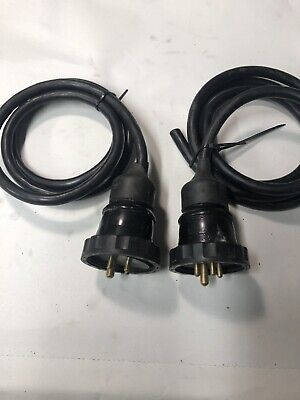 Reyrolle Vintage Electrical 3 Phase Plugs 5 Amp -  2 Off