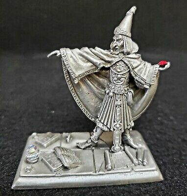 Partha Pewter Sorcerer with Crystals PP262 by Artist Tom Meier 1990