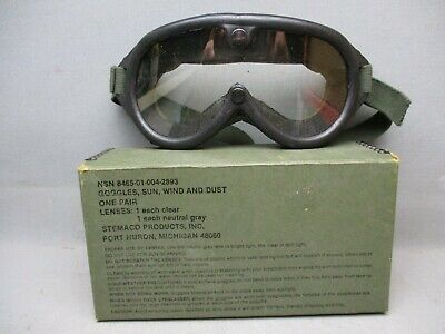 Goggles US Military Sun Wind and  Dust NSN 8465-01-004-2893 Stemaco Products