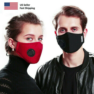 Washable / Air Purifying / Every Day / Travel Face Mask PM2.5 Black & Red