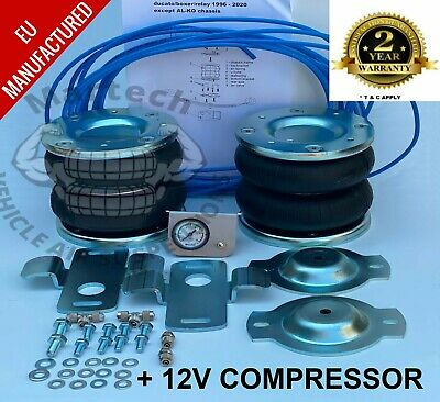 Air Suspension Kit Peugeot Boxer 1994 -2020  + Air Compressor Recovery Motorhome