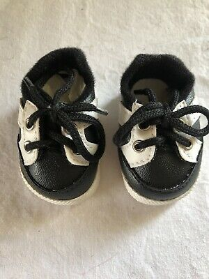 Others Doll Shoes Unisex 50mm Black Custom Sporty Shoes for Little Darling