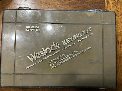 .Weslock Keying Kit  No.00100 For Rekeying and Master keying Weslock cylinders